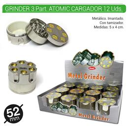 GRINDER 3 Part. ATOMIC CARGADOR 52 mm 12 Uds. 02.12427