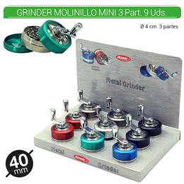 GRINDER 3 Part. ATOMIC MOLINILLO MINI 40 mm 9 Uds. 02.12468