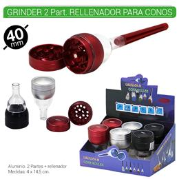 GRINDER 2 Part. + RELLENADOR 40 mm. 6 Uds. 02.12480