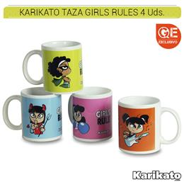 KARIKATO TAZA GIRLS RULE 4 Uds. KK22
