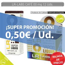 LR-LABS E-LIQUID CAFE 00 mg 12 Uds.