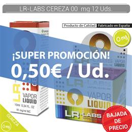 LR-LABS E-LIQUID CEREZA 00 mg 12 Uds.