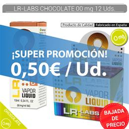 LR-LABS E-LIQUID CHOCOLATE 00 mg 12 Uds.