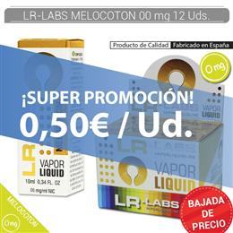 LR-LABS E-LIQUID MELOCOTON 00 mg 12 Uds.