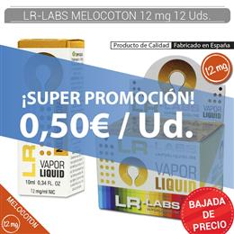 LR-LABS E-LIQUID MELOCOTON 12 mg 12 Uds.