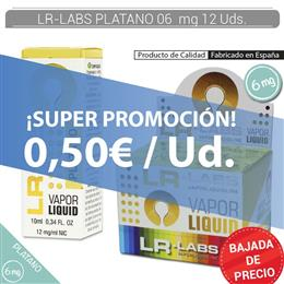 LR-LABS E-LIQUID PLATANO 06 mg 12 Uds.