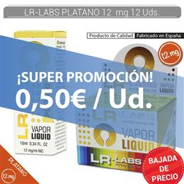 LR-LABS E-LIQUID PLATANO 12 mg 12 Uds.