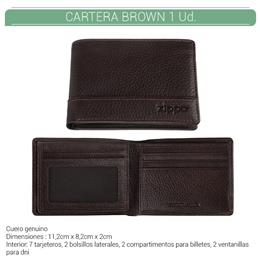 ZIPPO CARTERA TRI-FOLD WALLET BROWN 1 Ud. 2006053