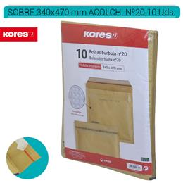 SOBRES ACOLCHADOS AIR BAG 350 x 470 mm. KRAFT 10 Uds. Nº20