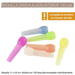 BOQUILLA SHISHA ALADIN INTERIOR COLORES 100 Uds. H410COLOR