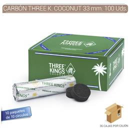 CARBON THREE KINGS COCONUT 33 mm. 100 Uds.