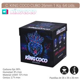 CARBON KING COCO CUBO 26 mm. 1 Kg. 64 Uds. 124.800