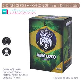 CARBON KING COCO HEXAGON 50x20 mm. 1 Kg. 60 Uds. 124.804