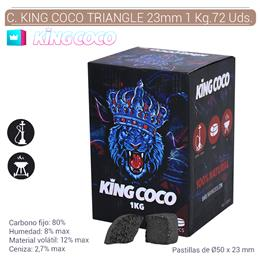 CARBON KING COCO TRIANGULO 50x23 mm. 1 Kg. 72 Uds. 124.805