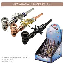BLISTER PIPA ARAÑA STRASS C/FILTRO 12 Uds. 02.12763