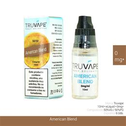 TRUVAPE E-LIQUID AMERICAN BLEND 00 mg 10 ml 6 Uds. TV030