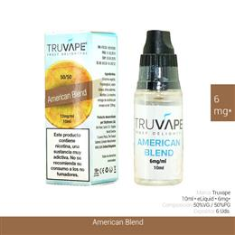 TRUVAPE E-LIQUID AMERICAN BLEND 06 mg 10 ml 6 Uds. TV032