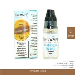 TRUVAPE E-LIQUID AMERICAN BLEND 12 mg 10 ml 6 Uds. TV033