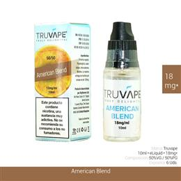TRUVAPE E-LIQUID AMERICAN BLEND 18 mg 10 ml 6 Uds. TV039