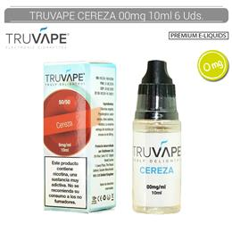 TRUVAPE E-LIQUID CEREZA 00 mg 10 ml 6 Uds. TV009