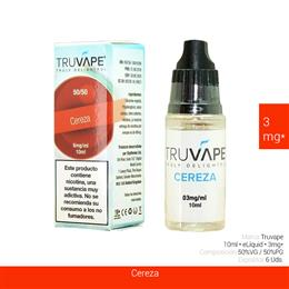 TRUVAPE E-LIQUID CEREZA 03 mg 10 ml 6 Uds. TV010