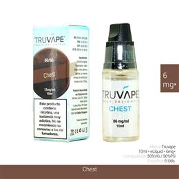 TRUVAPE E-LIQUID CHEST 06 mg 10 ml 6 Uds. TV036