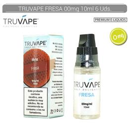 TRUVAPE E-LIQUID FRESA 00 mg 10 ml 6 Uds. TV027