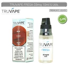 TRUVAPE E-LIQUID FRESA 03 mg 10 ml 6 Uds. TV028