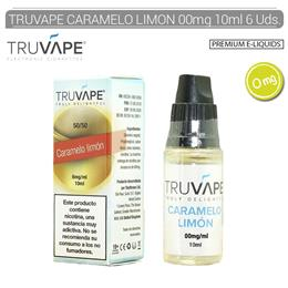 TRUVAPE E-LIQUID CARAMELO & LIMON 00 mg 10 ml 6 Uds. TV024