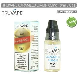 TRUVAPE E-LIQUID CARAMELO & LIMON 03 mg 10 ml 6 Uds. TV025