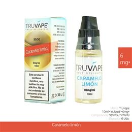 TRUVAPE E-LIQUID CARAMELO & LIMON 06 mg 10 ml 6 Uds. TV026