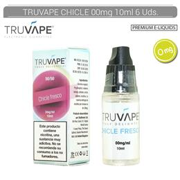 TRUVAPE E-LIQUID CHICLE FRESCO 00 mg 10 ml 6 Uds. TV006