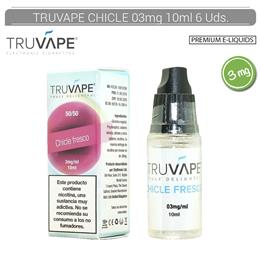 TRUVAPE E-LIQUID CHICLE FRESCO 03 mg 10 ml 6 Uds. TV007