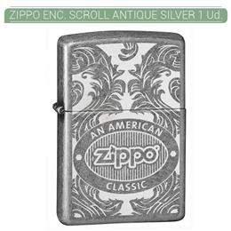 ZIPPO ENC. ZIPPO SCROLL ANTIQUE SILVER 1 Ud. 60003443