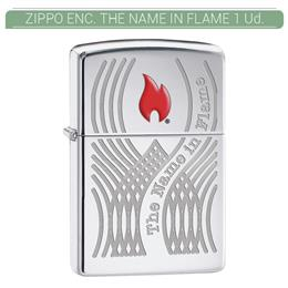 ZIPPO ENC. THE NAME IN FLAME 1 Ud. 60001859