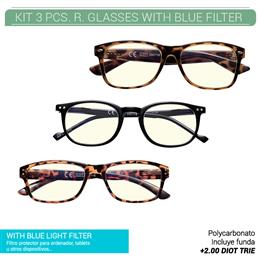 ZIPPO READING GLASSES KIT 3 PCS.+2.00 BLUE FILTER 1 Ud. 32Z-KITA-200 [2005868]