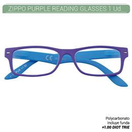 ZIPPO PURPLE READING GLASSES +1.00 DIOT TRIE 1 Ud. 2004959
