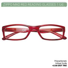 ZIPPO MAD RED READING GLASSES +3.00 DIOT TRIE 1 Ud. 2005512