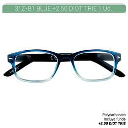 ZIPPO B-CONCEPT 31Z-B1 READING GLASSES BLUE +2.5 DIOT TRIE 1 Ud. 2004859