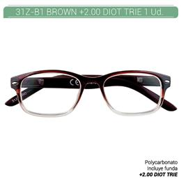 ZIPPO B-CONCEPT 31Z-B1 READING GLASSES BROWN +2.0 DIOT TRIE 1 Ud. 2004870