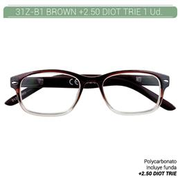 ZIPPO B-CONCEPT 31Z-B1 READING GLASSES BROWN +2.5 DIOT TRIE 1 Ud. 2004871