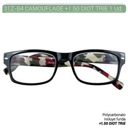 ZIPPO B-CONCEPT 31Z-B4 READING GLASSES CAMOUFLAGE +1.5 DIOT TRIE 1 Ud. 2004923