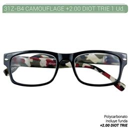 ZIPPO B-CONCEPT 31Z-B4 READING GLASSES CAMOUFLAGE +2.0 DIOT TRIE 1 Ud. 2004924