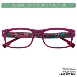 ZIPPO RED READING GLASSES +3.0 DIOT TRIE 1 Ud. 31Z-B4-RED300 2004945 [230218]