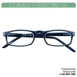 ZIPPO B-CONCEPT 31Z-B6 READING GLASSES BLUE +1.0 DIOT TRIE 1 Ud. 2004977