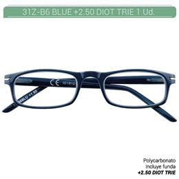 ZIPPO B-CONCEPT 31Z-B6-250 READING GLASSES BLUE +2.50 DIOT TRIE 1 Ud. 2004980