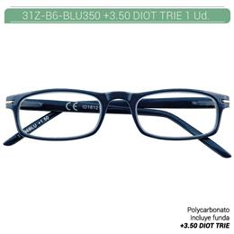 ZIPPO B-CONCEPT 31Z-B6 READING GLASSES BLUE +3.5 DIOT TRIE 1 Ud. 2004982