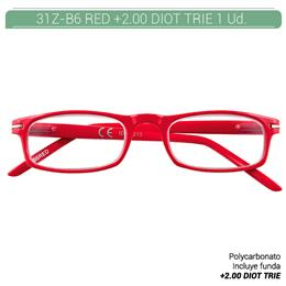 ZIPPO B-CONCEPT 31Z-B6 READING GLASSES RED +2.00 DIOT TRIE 1 Ud. 2004985
