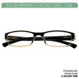 ZIPPO B-CONCEPT 31Z-B9 READING GLASSES BROWN +1.00 DIOT TRIE 1 Ud. 2005496