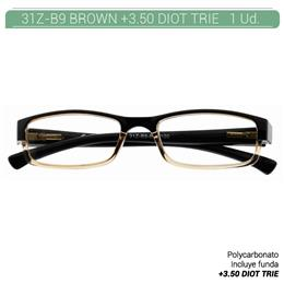 ZIPPO B-CONCEPT 31Z-B9 READING GLASSES BROWN +3.50 DIOT TRIE 1 Ud. 2005501